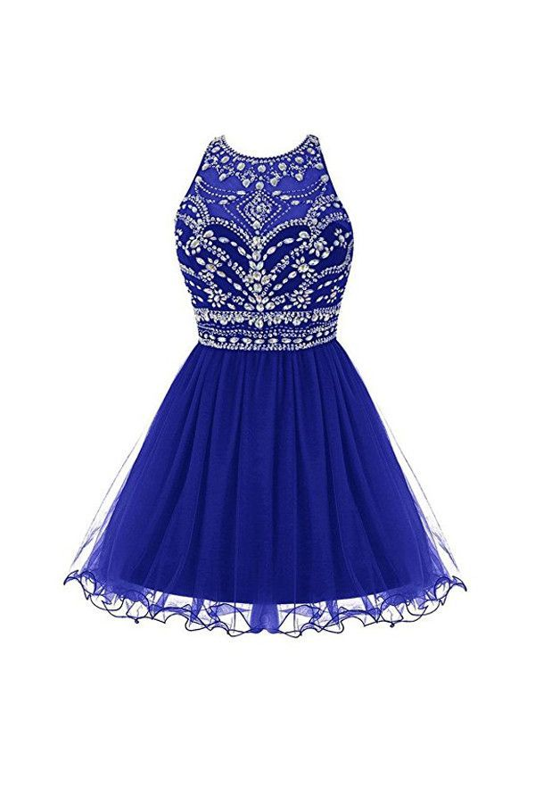 Royal Bule Tulle Homecoming Dresses 2016 Short Prom Gowns PG045 ...