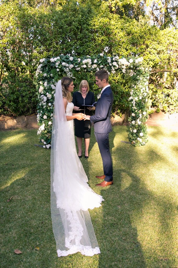 Beautiful garden styled wedding | itakeyou.co.uk #gardenwedding #sophiatolli #weddingdress #outdoorwedding #weddingreception