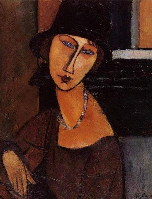 Portrait of Jeanne Hebuteme by Modigliani