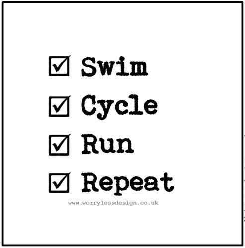 Swim Cycle Run Repeat Triathlon Quote Funny Motivational Quote For Triathletes Funny Unique And Quirk Triathlon Quotes Triathlon Humor Running Quotes