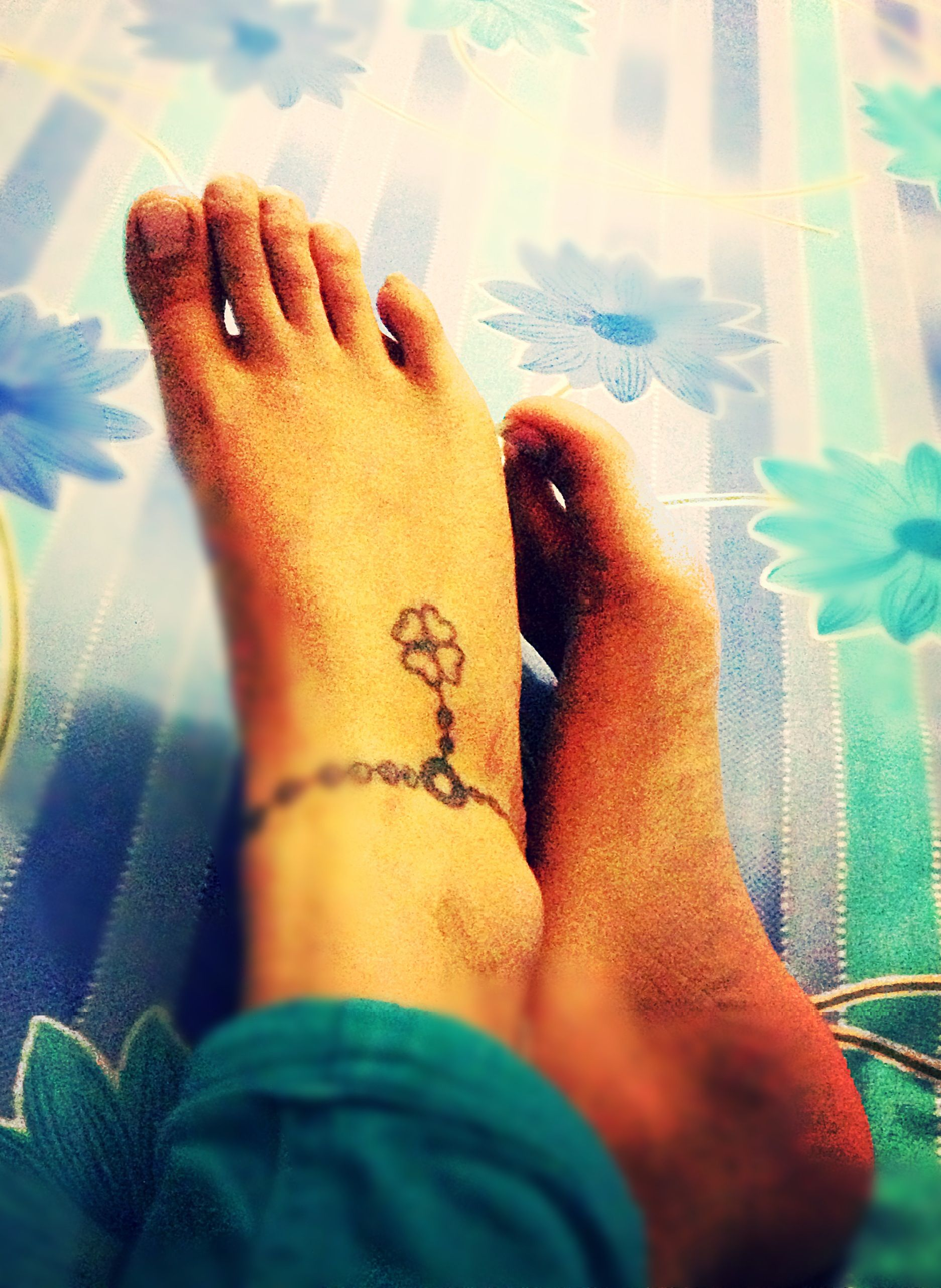 Rosary beads with clover leaf ankle tattoo tattoo pinterest