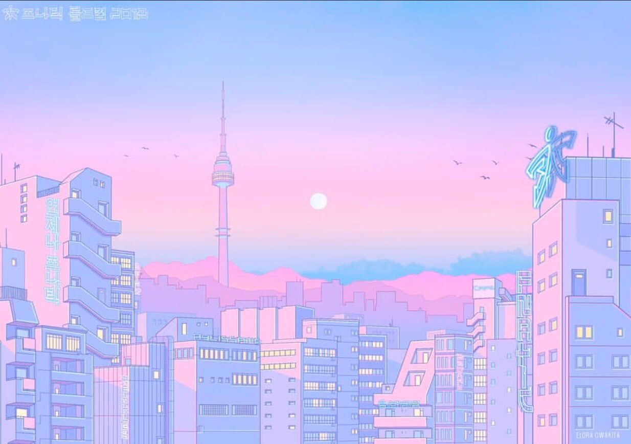Aesthetic Pink Anime Scenery Wallpaper Aesthetic Desktop Wallpaper Scenery Wallpaper
