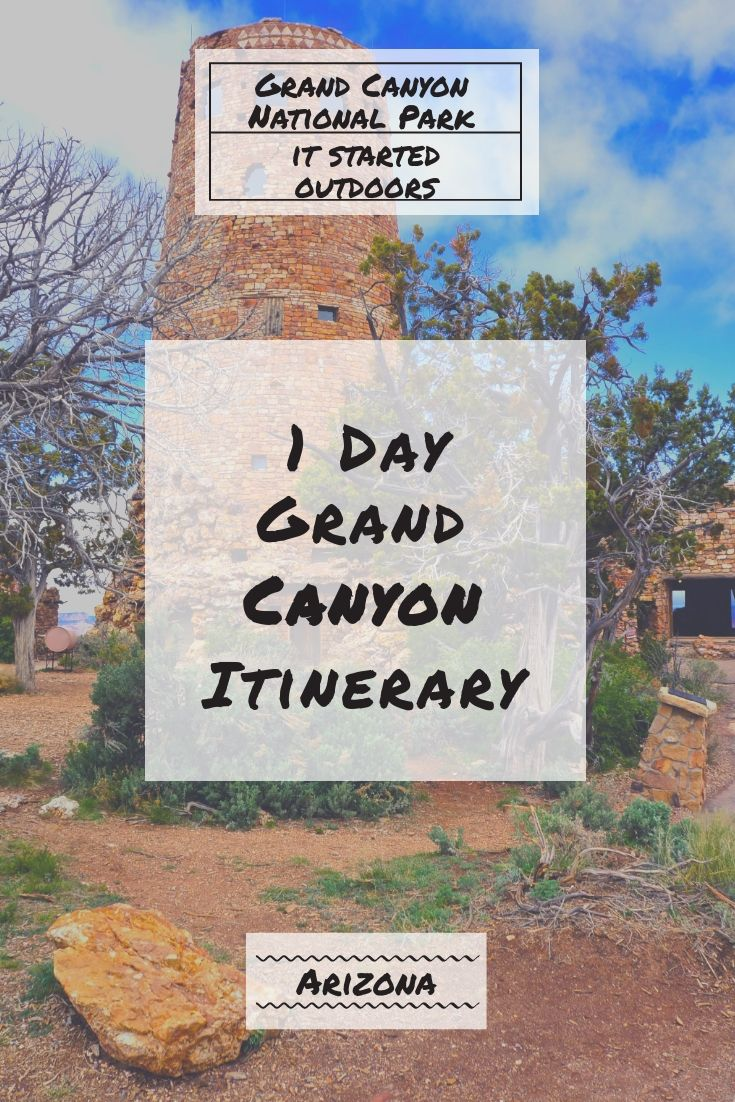 When you're in Arizona, the Grand Canyon is a must see! You may not have a lot of time so we have compiled a one day Grand Canyon itinerary for you. #grandcanyon