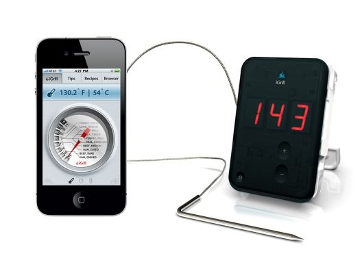 iGrill  - When your food is at the right temperature it sends a message to your  iPhone, iPod touch or iPad.