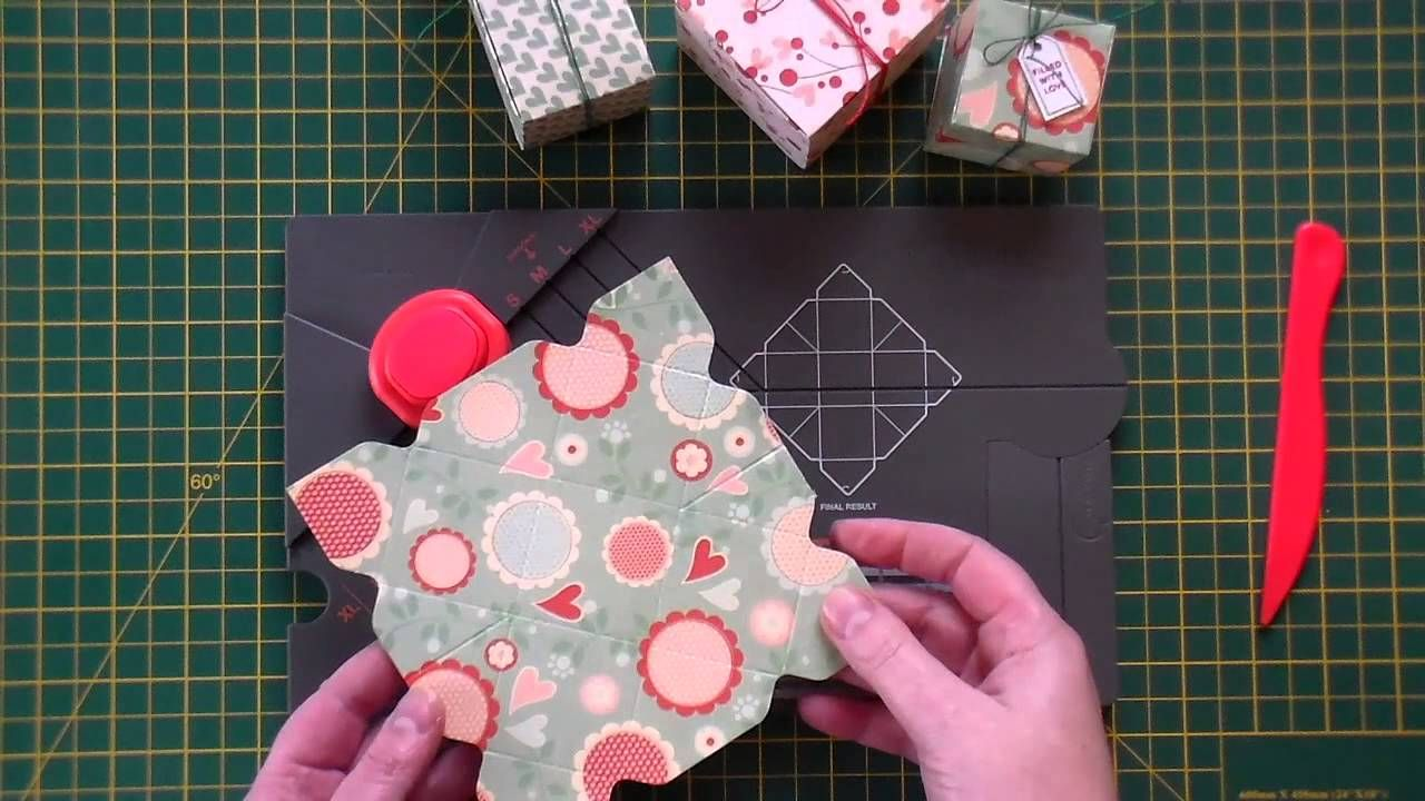 Video Tutorial We R Memory Keepers Gift Boxes Cute Little Gift Boxes Using The Punch Gift Box Punch Board Envelope Punch Board Projects Flower Punch Board