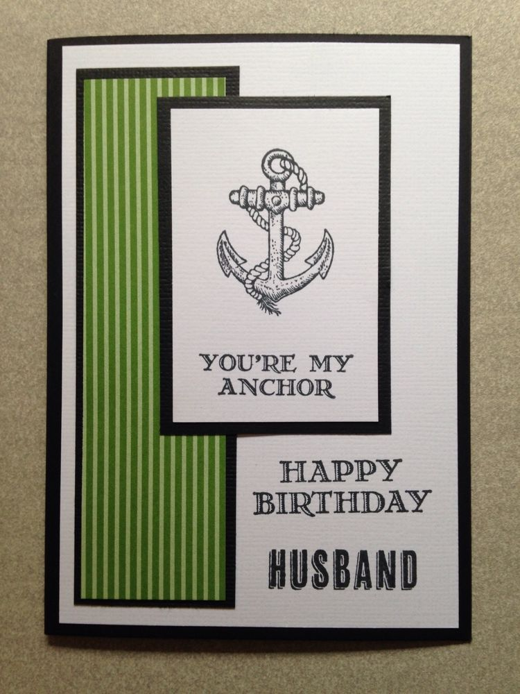 Handmade Male Birthday Card Stampin Up Husband Crafts Cards