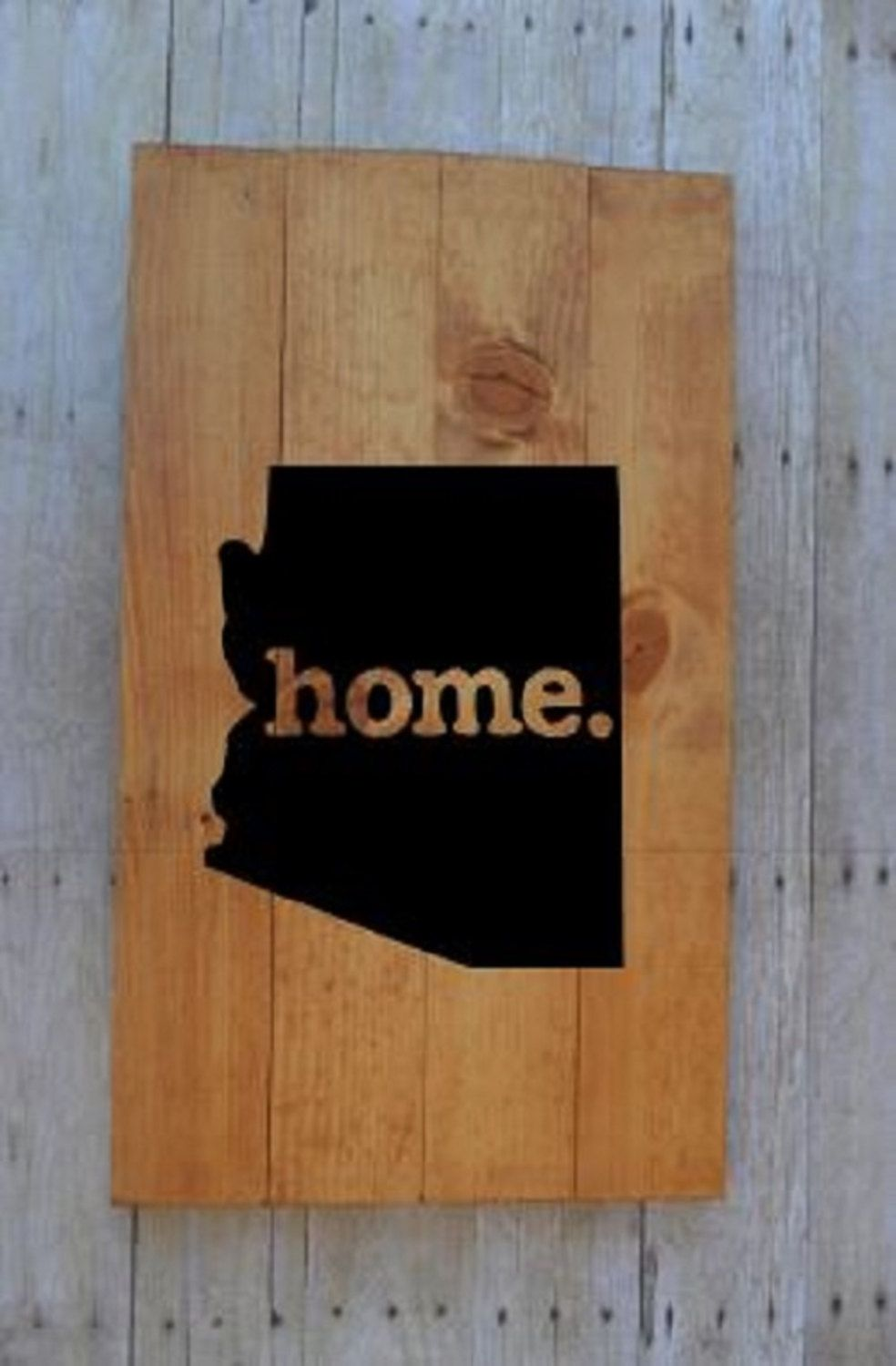 Arizona Art Wooden Sign Painted Wooden Sign Pallet Sign Wood