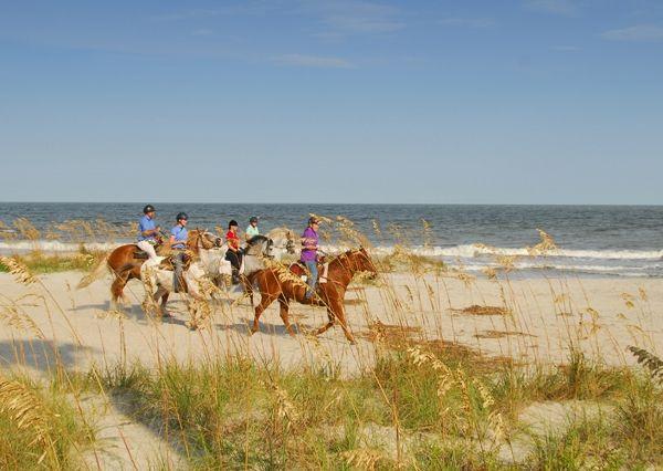 Horseback Riding On The Beach Sea Island Ga