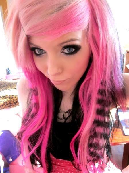 httpswwwgoogleblankhtml  scene hair pink hair