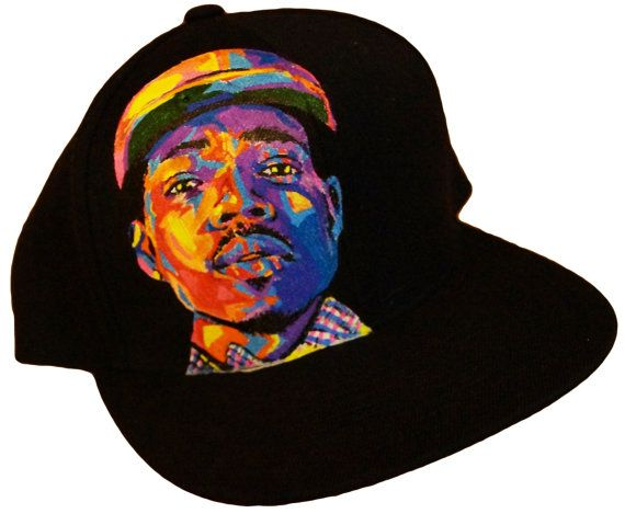 76852137ec31b Chance the Rapper hand painted and custom made LIDS by indielane ...