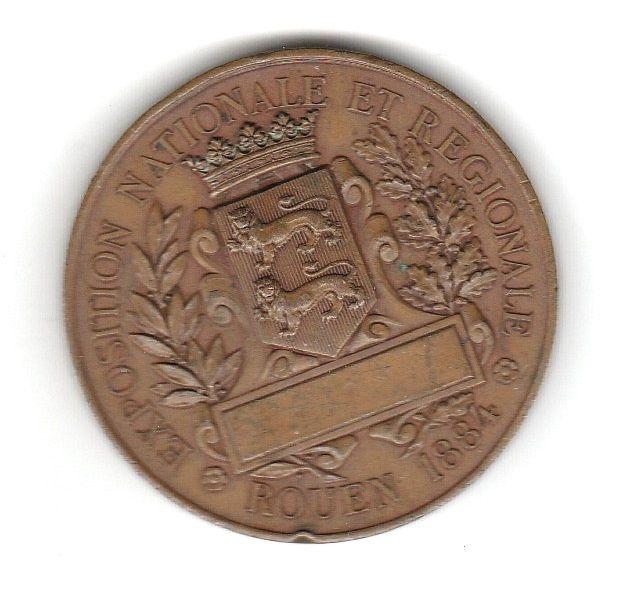 1884 Rouen Exposition Nationale et Regionale Bronze Medal | Coins & Paper Money, Exonumia, Medals | eBay!