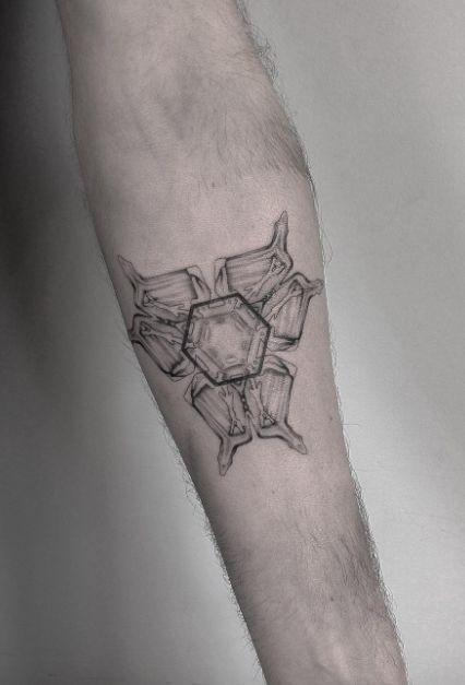 Photo of Eiskristallmolekül Tattoo – – Eiskristallmolekül Tattoo – – #kristall #Ic …