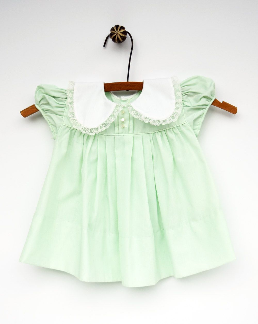 1960s Baby Girl Dress Green Baby Dress Baby Clothes 12 Months By