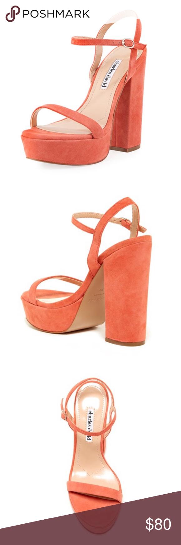 480259f119a3 NWT Charles David  Regal  Leather Platform Sandal High heel sandal. Leather  upper.