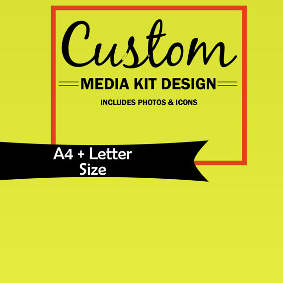 Custom Media Kit, Media Kit Template, Mixed Media Kit, AD Rate - rate sheet template