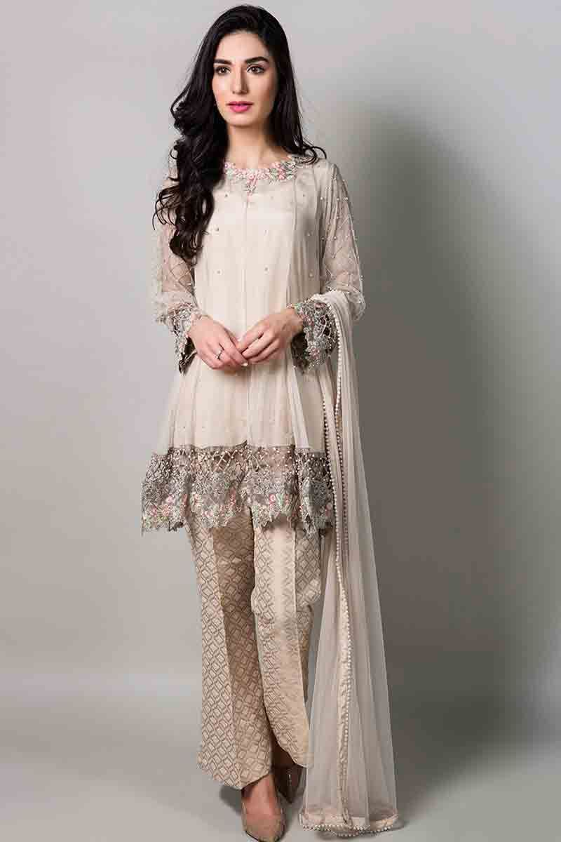 f38e65a242fba beautiful fancy short shirt with matching dupatta and pants latest maria b  fancy party wear eid dresses 2017 with price for girls