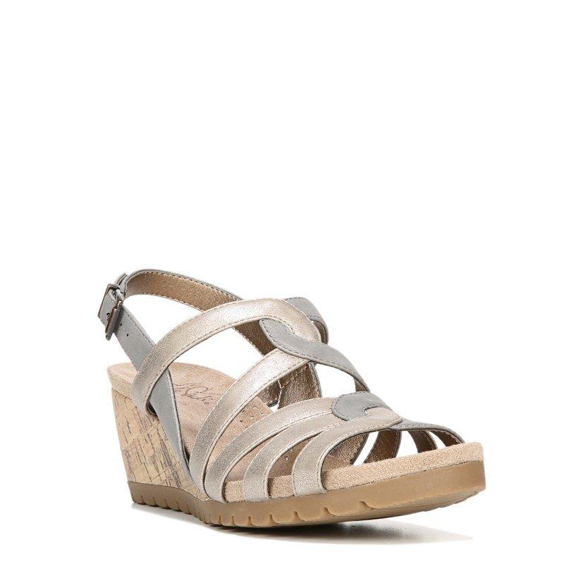 Lifestride Women's Novak Medium/Wide Wedge Sandals (Multi Metallic) - 10.0 W