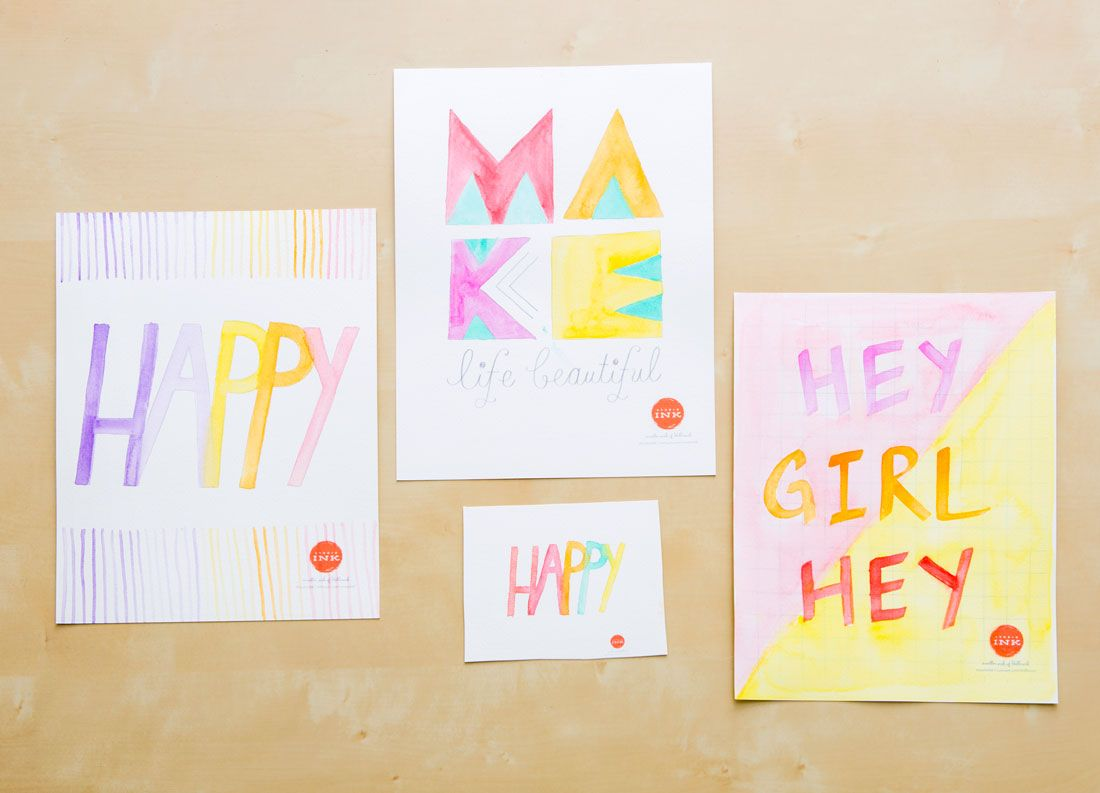 DIY watercolor wall art with this tutorial. | To Make from Brit + Co ...