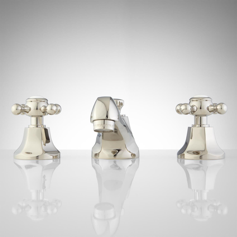 New York Widespread Bathroom Faucet - Contemporary Cross Handles ...