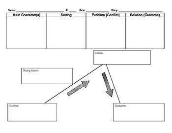 This Is A Simple Graphic Organizer For Students To Detail Story