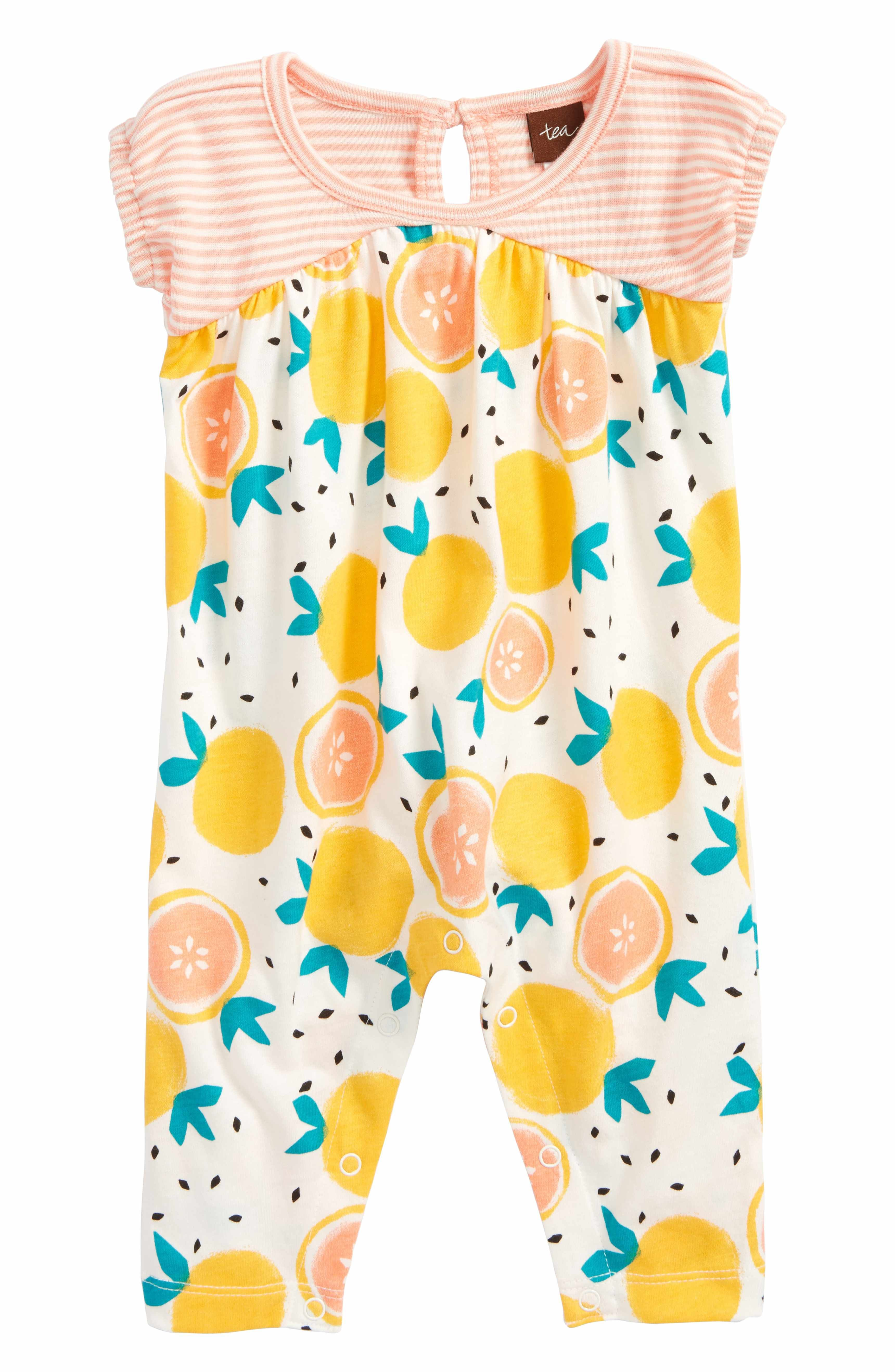 10f0bec13dcae Main Image - Tea Collection Citrus Romper (Baby Girls) | fruit ...