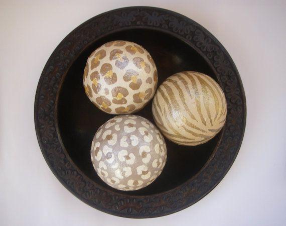 Leopard Decorative Balls Gorgeous Animal Print Leopard Zebra Decorative Art Balls  My Art Decorating Inspiration