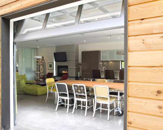 Spaces Garage Door Inside Design Pictures Remodel Decor And Ideas