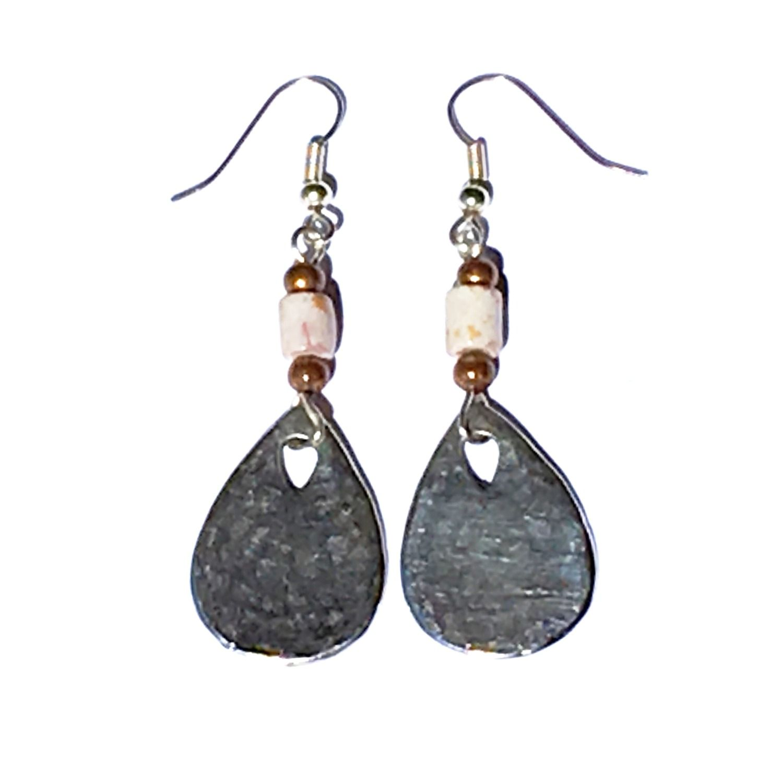 Brushed Silver Teardrop Earrings Brighton Uk Jewelry Boho Chic
