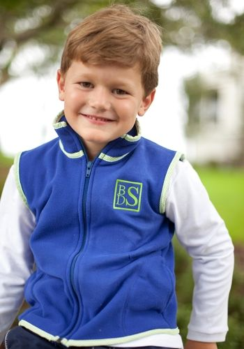 Navy Fleece Vest for boys. How cute is this with a monogram.