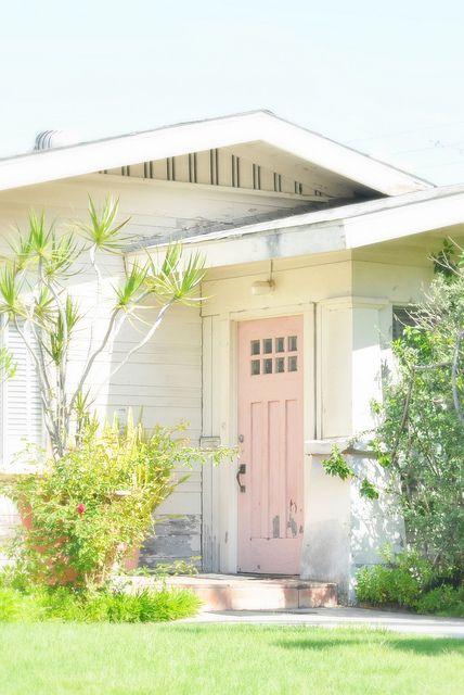 Pink Door Cottage Front Doors Pink Door Pink Houses