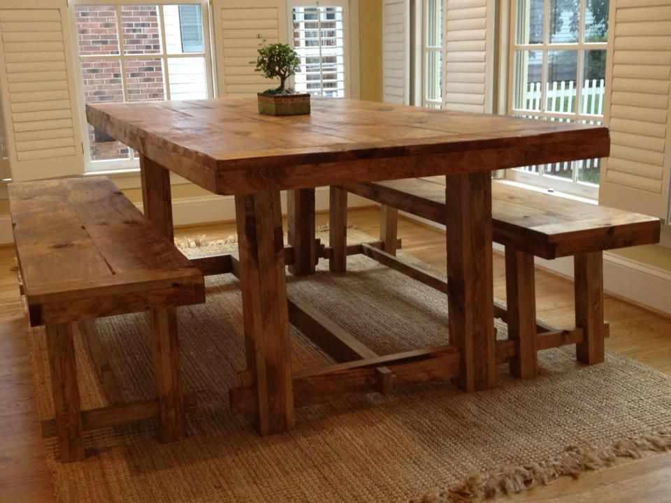 All Wood Farm Table Crafted By Blake Building Charlotte, NC