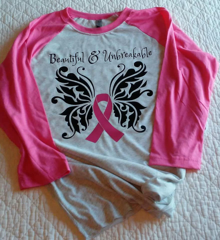 897f68dd Beautiful & Unbreakable disaster breast cancer survivor pink raglan  baseball soft shirt 2x 3x plus size custom show support gift by  TheSpunkyBunny on Etsy
