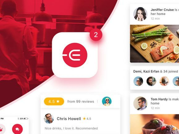 Edacious free food ui kit for web apps app and app ads edacious free food ui kit for web apps forumfinder Images