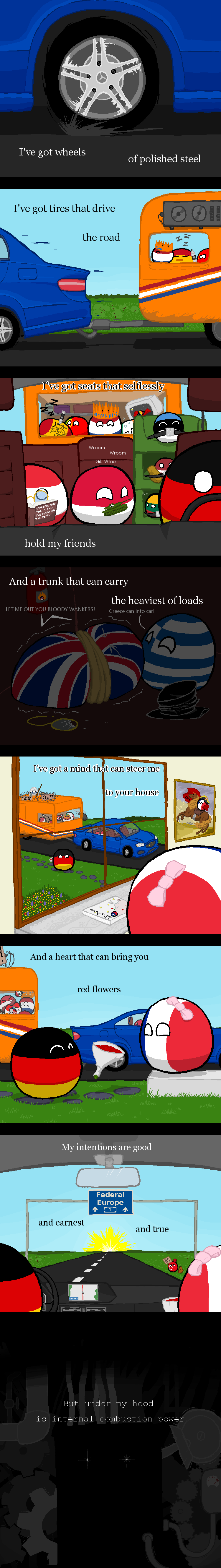 Satan Is My Motor Germany France Reichtangle By Selenocystein Polandball Countryball Sake