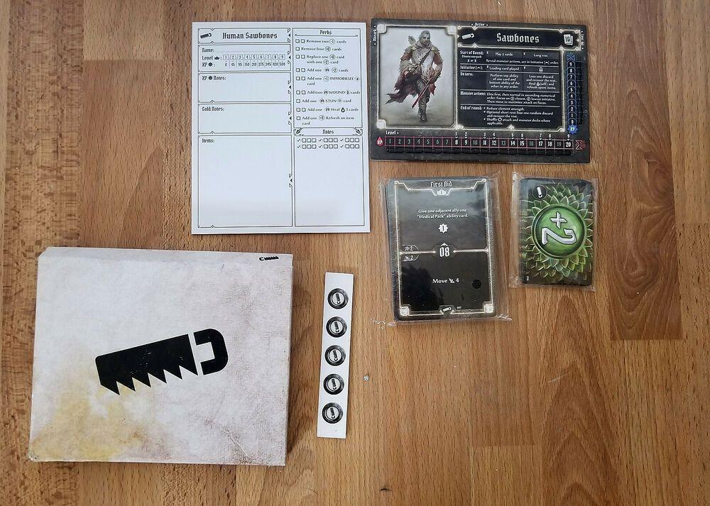 Gloomhaven Human Sawbones Sealed Cards And Character Sheet Hasbro