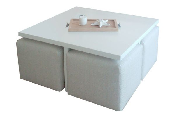 La Table Basse Avec Pouf Pour Un Style De Vie Moderne Avec Images