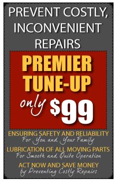 Premier Garage Door Tune Up Only $99 Annual Maintenance Avoids Costly Garage  Door Repairs.