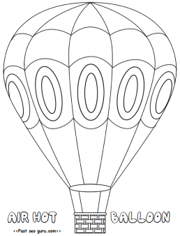 hotairballoon #coloring pages free printable for kids.print out ... - Hot Air Balloon Pictures Color