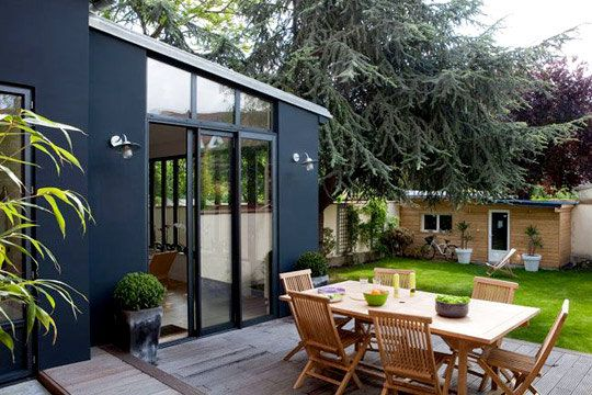 terrasse-bois-jardin-extension-gr | Architecture | Pinterest ...