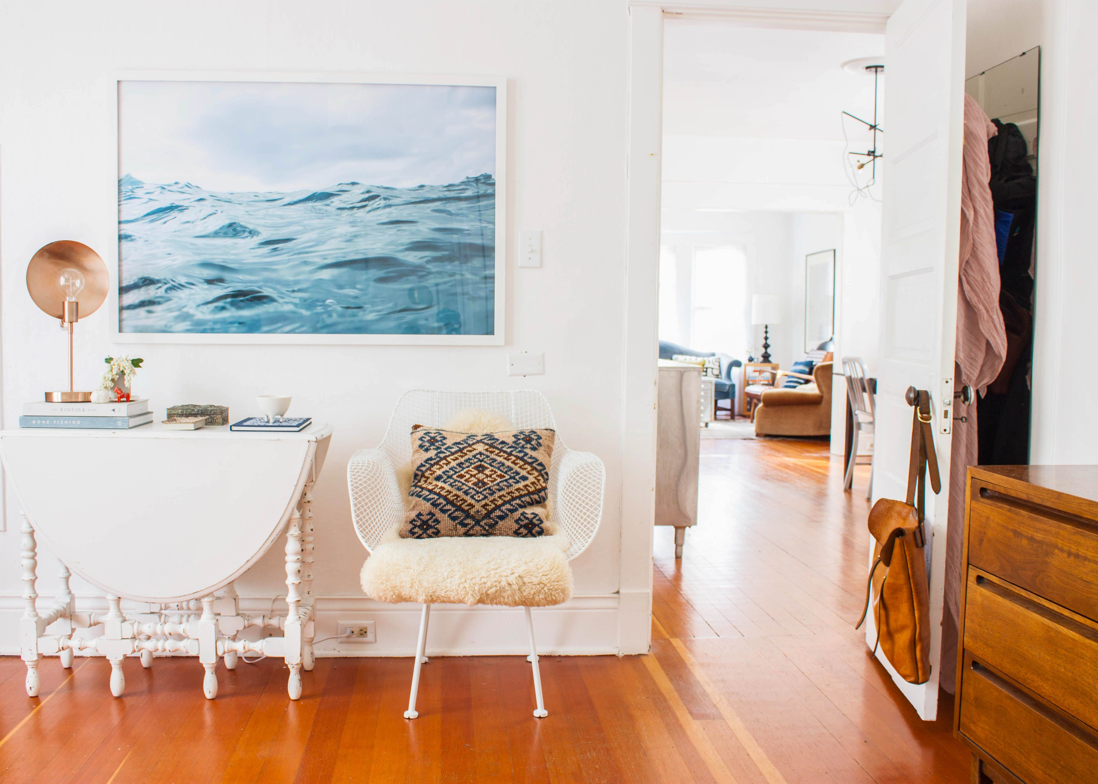 A Graphic Designer's Collected Seattle Home Hanging art