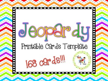 Jeopardy Printable Cards Template