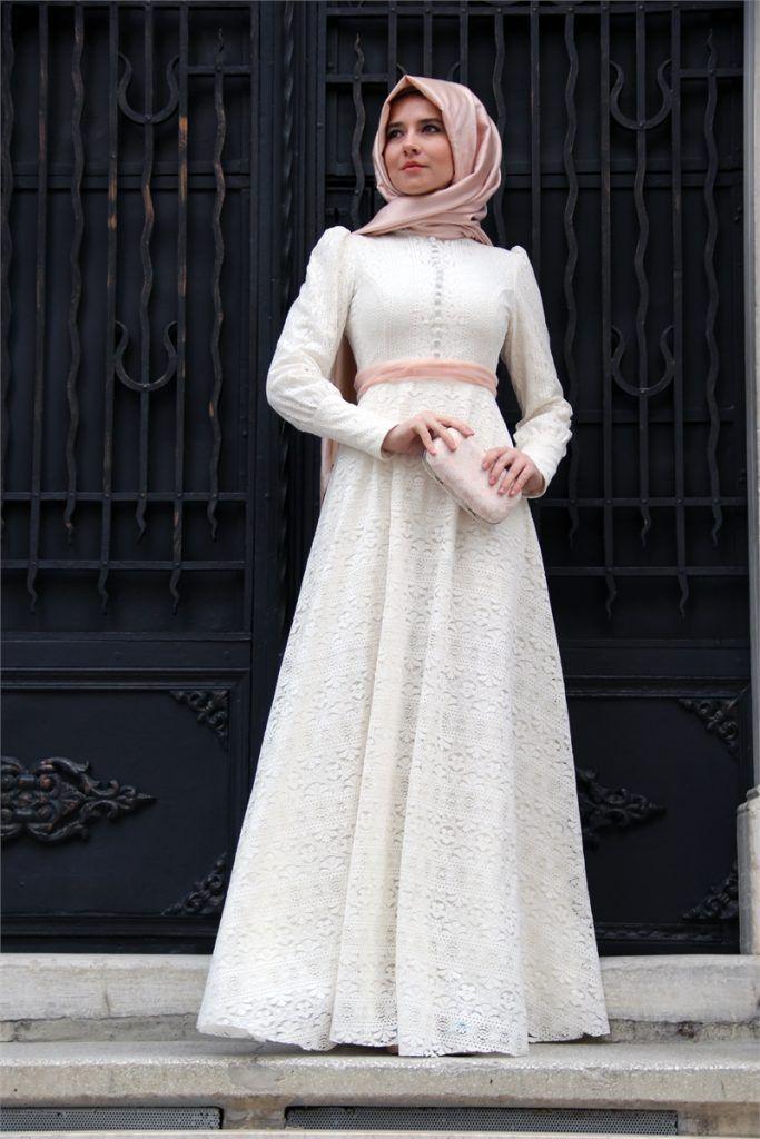 Tesettur Giyim Markalari Listesi Tesettur Ve Ben Dantel Elbise Elbise Modelleri Elbise