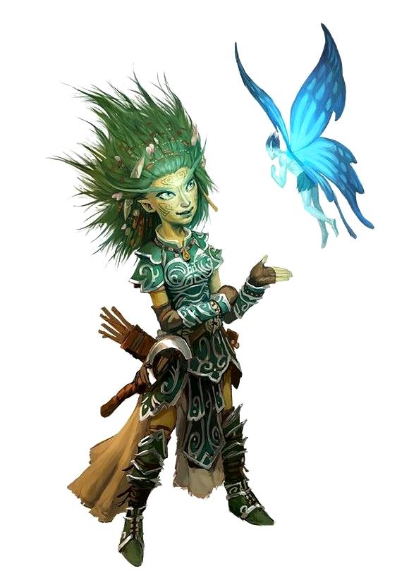 Female Gnome: Female Gnome Druid With Pixie