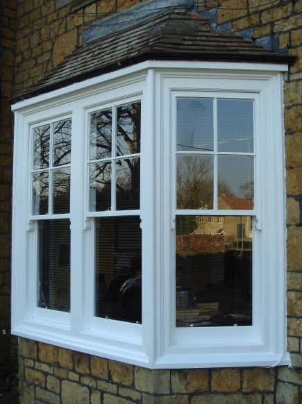 Business Design A House And Window: Box Bay Window Windows That Project From The House And That Have A Square Shape With 90 Degree