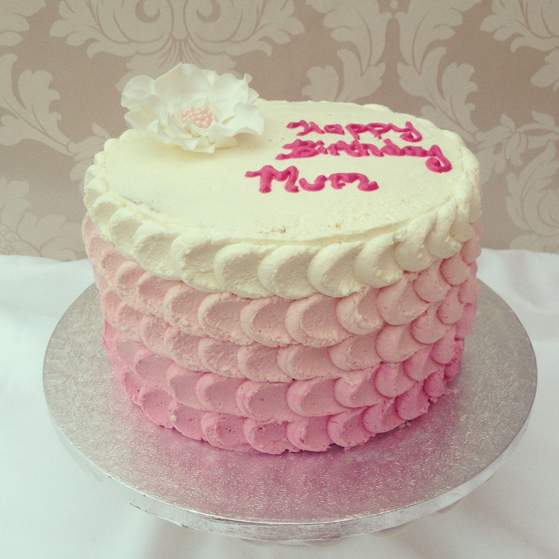 Ombr fresh cream cake cakes Pinterest Fresh cream Cream cake