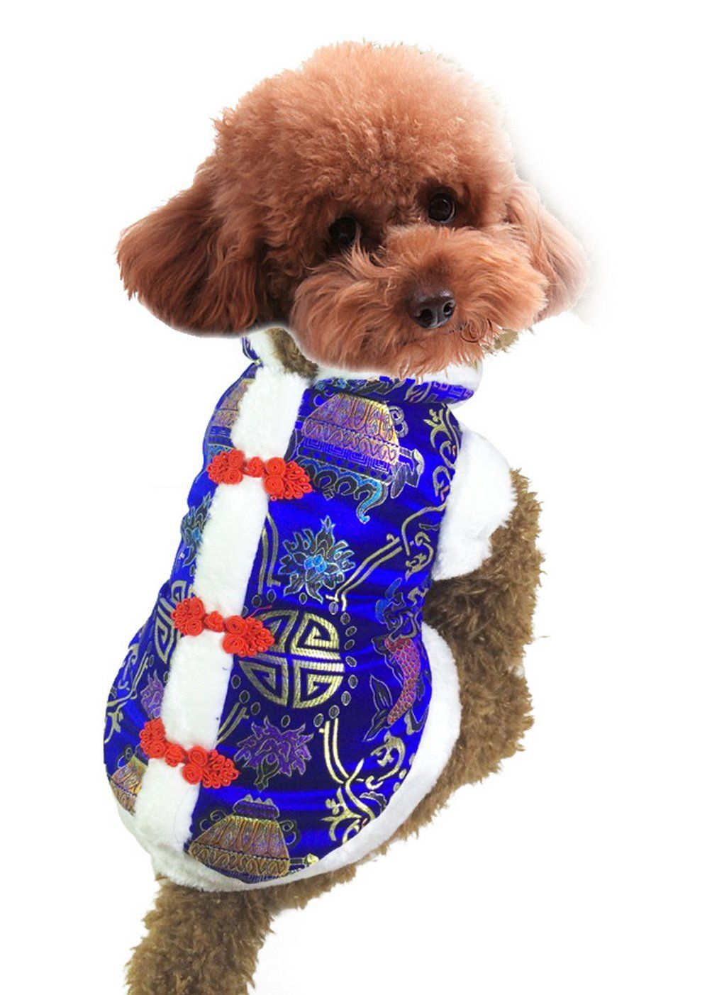 Selmai Dog Chinese Costume Pet Coats Winter Vest Down Jacket New