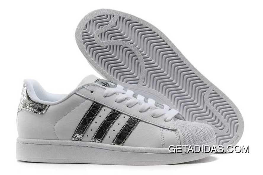 adidas superstar ii schuhe snake spot weiß silber