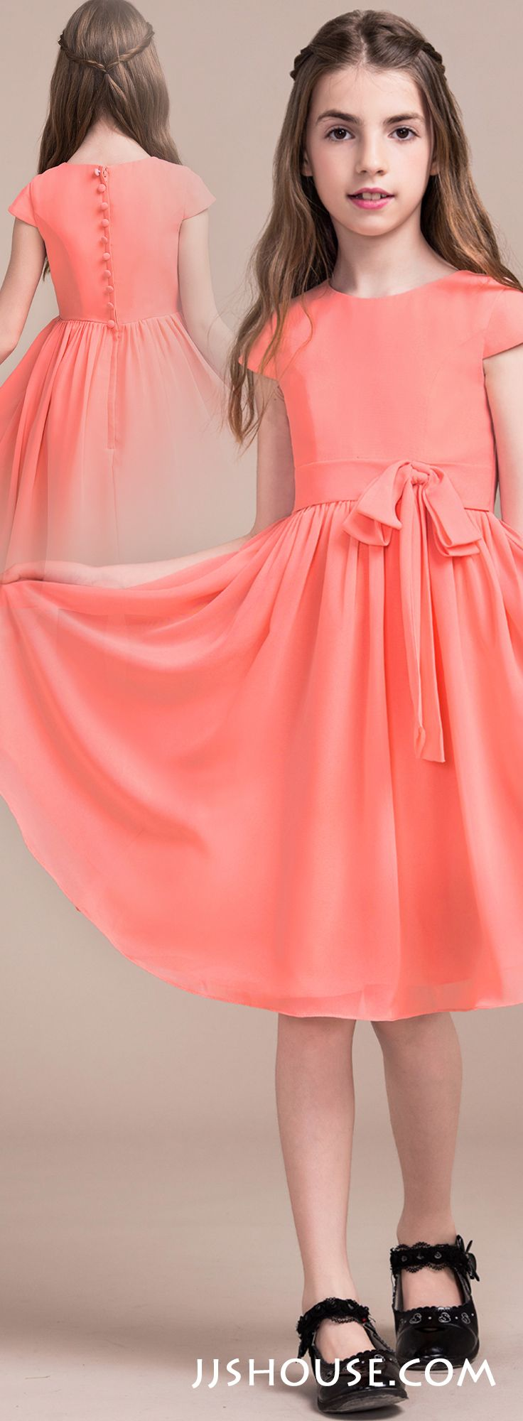 A sweet and chic look that will be perfect for any junior bridesmaid ...