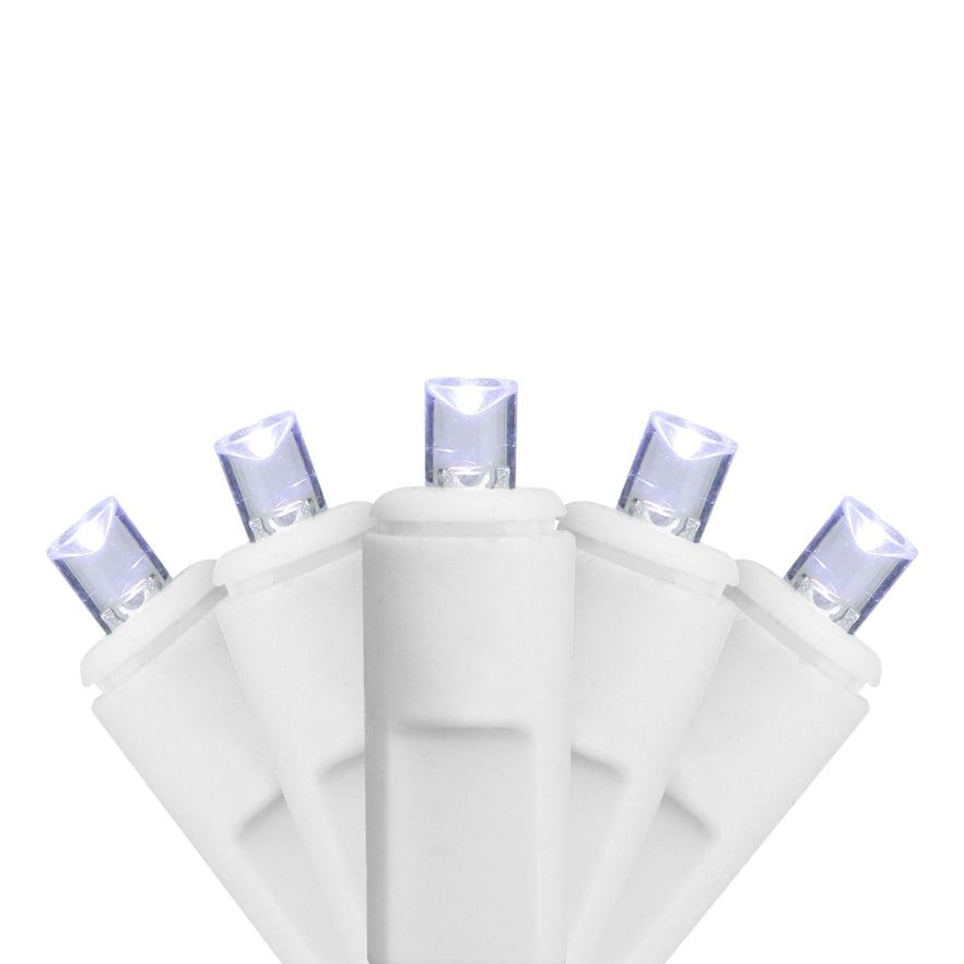 70 Cool White Wide Angle Twinkling LED Indoor / Outdoor Icicle Christmas Lights #wideangle