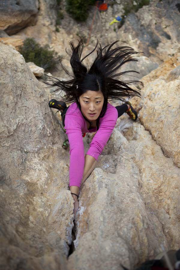 Jules Cho in Olta, Spain. #escalada